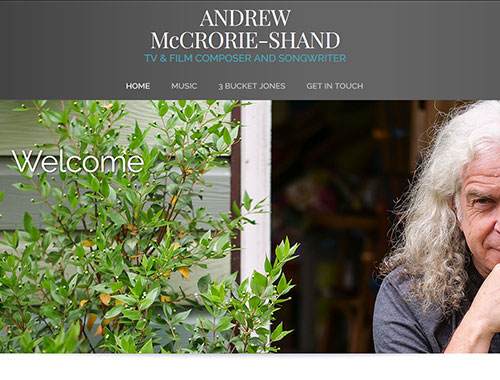 Responsive website for Andrew McCrorie-Shand - composer, songwriter and musician